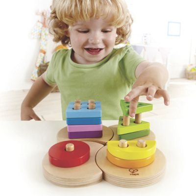 Wood Geometric Shape Sorter Puzzle