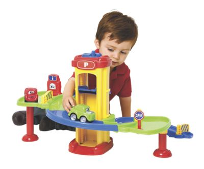 Toy Parking Garage with Pull Back Cars