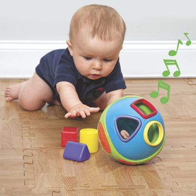 Musical Shape Sorter Ball and Crawling Toy