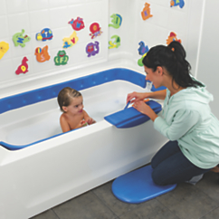 secure transitions inflatable baby bath tub from one step ahead 2i30387. Black Bedroom Furniture Sets. Home Design Ideas