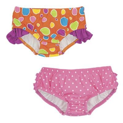 Sun Smarties Girls Ruffled Swim Bottom