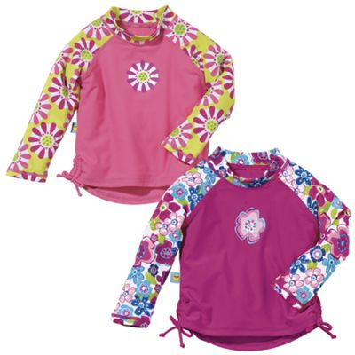 Sun Smarties Girl's UV Long Sleeve Rash Guard