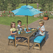 Sun Smarties Kids Picnic Table & Benches with Umbrella