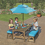 Sun Smarties Kids Picnic Table and Benches with Umbrella