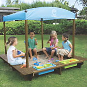 Sun Smarties Wood Sandbox with Canopy
