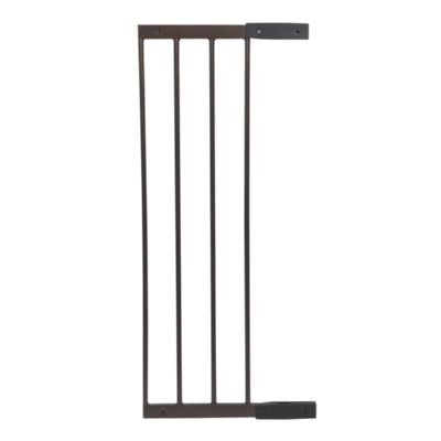 Decor Angle-Mount 10 Inch Baby Gate Extension in Hammered Bronze