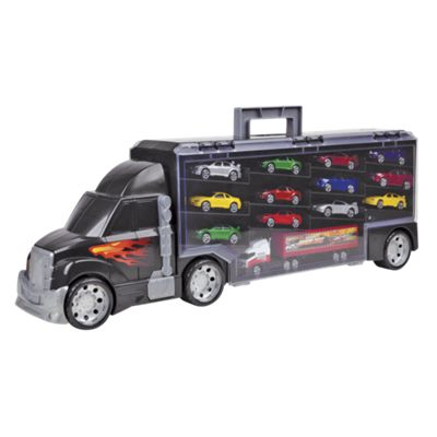 Toy Truck Carry Case with Model Cars