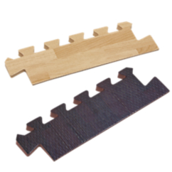 8 Piece Wood Grain Foam Mat Tapered Edges