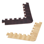8 Piece Wood Grain Foam Mat Tapered Corners