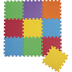 10 Piece Foam Puzzle Play Mat   Solid Colored