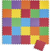 26-Piece Foam Puzzle Play Mat - Solid Colored