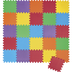 26 Piece Foam Puzzle Play Mat   Solid Colored