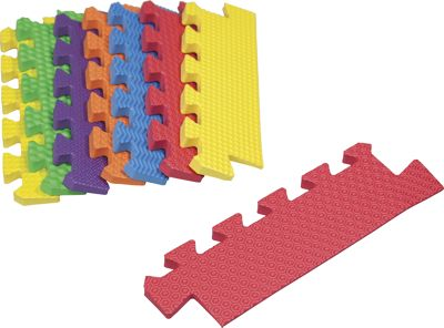 8-Piece Primary-Colored Foam Mat Tapered Edges