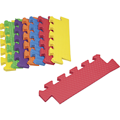 8 Piece Primary Colored Foam Mat Tapered Edges
