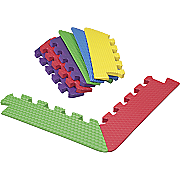 8 Piece Primary Colored Foam Mat Tapered Corners