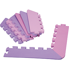 8 Piece Pastel Foam Mat Tapered Corners