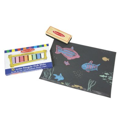 Jumbo Triangular Chalk & Felt Eraser Set