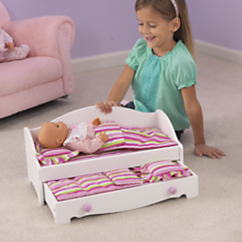 Wood Doll Bed with Trundle by KidKraft