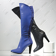 Midnight Velvet Back Rhinestone Boot