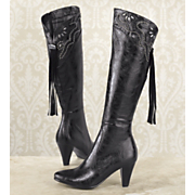 Midnight Velvet Romantic Border Boot