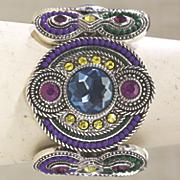 Cuff Crystal Beaded Art Deco