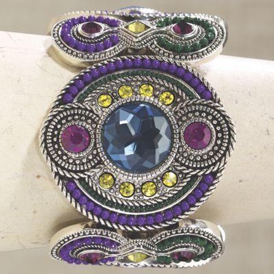 Crystal Beaded Art Deco Cuff