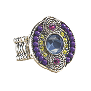 Ring Stretch Crystal Beaded Art Deco