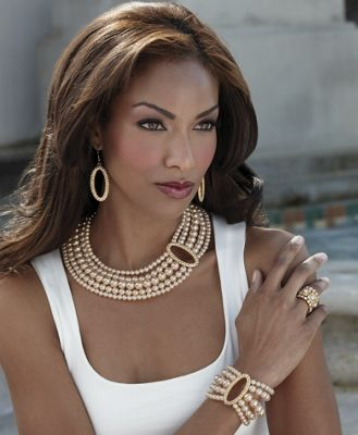 Faux Pearl and Crystal Jewelry