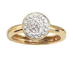 Crystal Round Cluster Ring