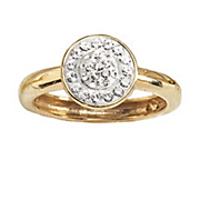 Ring Crystal Round Cluster