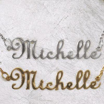 Name Script Necklace