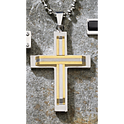 Cross Pendant Two Tone