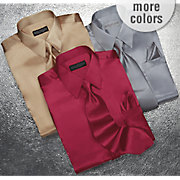 Shirt And Tie Set Satin