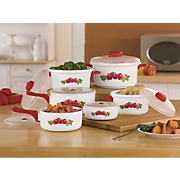 12-Piece Red Apple Microwave Pan Set