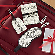 snakeskin print travel 5 pc set
