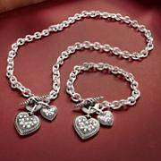 Double Heart Charm Jewelry