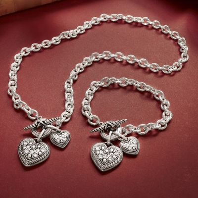 Double Heart Charm Jewelry