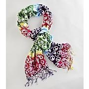 rainbow peace scarf