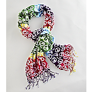 rainbow peace scarf