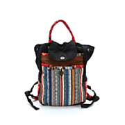 striped convertible satchel