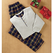 country plaid pjs 2 pc set