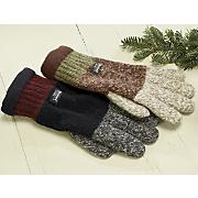 Ragg Wool Colorblock Gloves