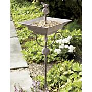 Garden Stake Bird Feeder birdbath