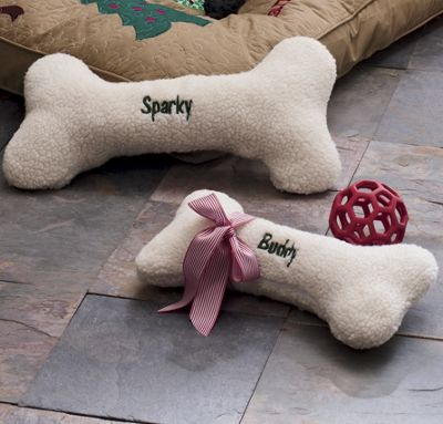 Personalized Plush Dog Bone