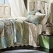 Vintage Paisley Oversized/Reversible Quilt, Sham & Bedskirt