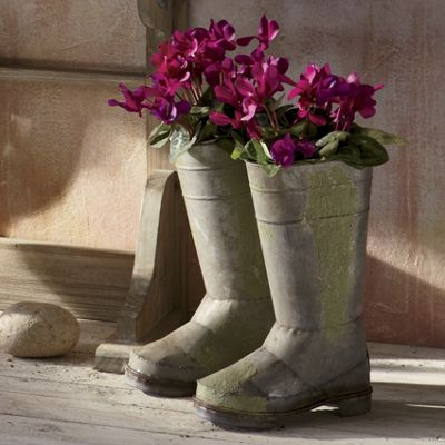 Set of 2 Decorative Boots