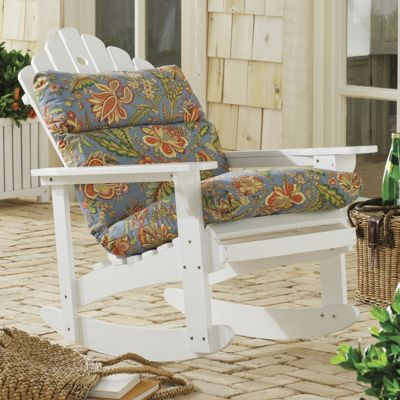 Rocking adirondack chair pattern perfect adirondack cushion from through the country door - Patterns for adirondack chairs ...