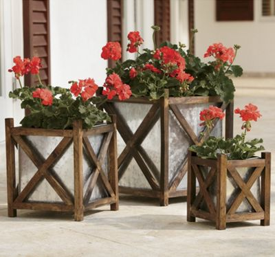 Set of 3 Deck Planters