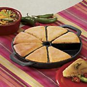 pre seasoned cast iron cornbread pan