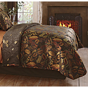 Reversible Coverlet Falling Leaves